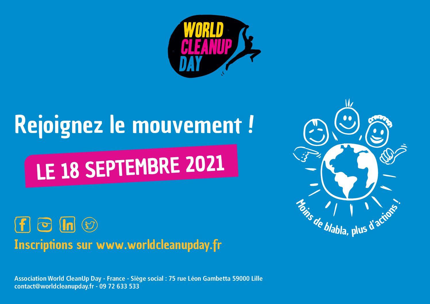 Journée mondiale du nettoyage de notre planète le 18 septembre 2021